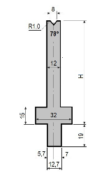 Matrize GWD-L008/V8-78°-R1