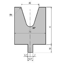 Matrize GWD-L040/V40-30°-R4