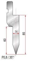 Abkantwerkzeug Typ Trumpf GWD-T040/30°/R5