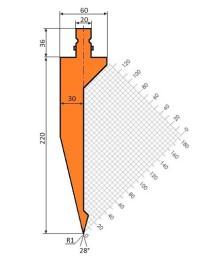 Abkantwerkzeug Typ Trumpf GWP-T202/S