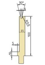 Abkantwerkzeug Typ Trumpf GWD-T004S/30°/R0,6