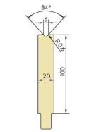 Abkantwerkzeug Typ Trumpf GWD-T006/84°/R0,6