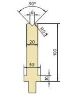 Abkantwerkzeug Typ Trumpf GWD-T008/90°/R0,8
