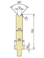 Abkantwerkzeug Typ Trumpf GWD-T012/90°/R1