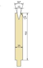 Abkantwerkzeug Typ Trumpf GWD-T012H/30°/R1