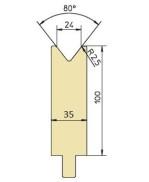 Abkantwerkzeug Typ Trumpf GWD-T024/80°/R2,5