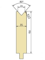 Abkantwerkzeug Typ Trumpf GWD-T024H/80°/R2,5