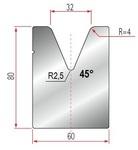 Amada Matrize V32-45°-R4