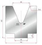 Amada Matrize V80-45°-R6