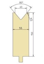 Abkantwerkzeug Typ Trumpf GWD-T040H/80°/R5
