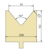 Abkantwerkzeug Typ Trumpf GWD-T080/80°/R5