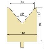 Abkantwerkzeug Typ Trumpf GWD-T090/80°/R8