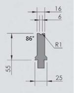 Abkantwerkzeug Typ Wila OZU-021