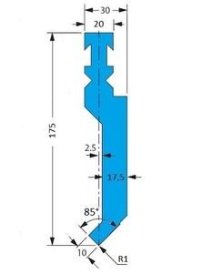 Abkantwerkzeug Typ Bystronic P2 RF-A H175