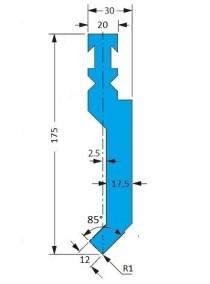 Abkantwerkzeug Typ Bystronic P3 RF-A H175