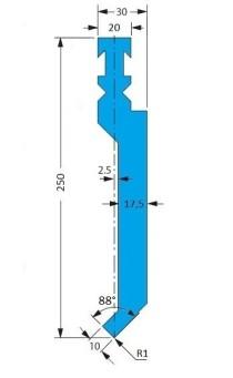 Abkantwerkzeug Typ Bystronic P2 RF-A H250 88°
