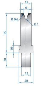 Abkantwerkzeug Typ Bystronic V6 30°