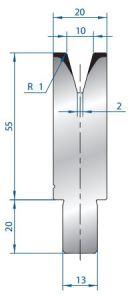 Abkantwerkzeug Typ Bystronic V10 30°