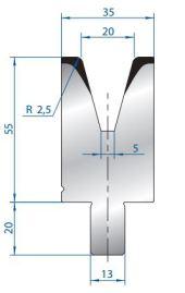 Abkantwerkzeug Typ Bystronic V20 30°