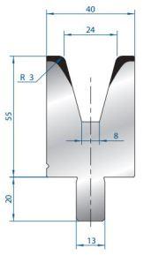 Abkantwerkzeug Typ Bystronic V24 30°