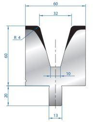 Abkantwerkzeug Typ Bystronic V60 30°