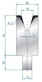 Abkantwerkzeug Typ Bystronic V16 30°