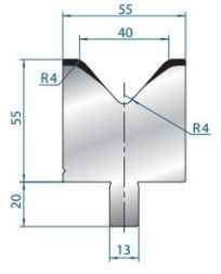 Abkantwerkzeug Typ Bystronic V40 85°