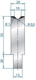 Abkantwerkzeug Typ Bystronic V10 88°