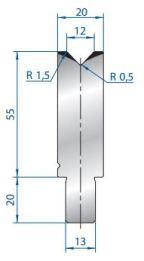 Abkantwerkzeug Typ Bystronic V12 88°