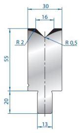 Abkantwerkzeug Typ Bystronic V16 88°