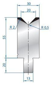 Abkantwerkzeug Typ Bystronic V20 88°