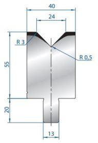 Abkantwerkzeug Typ Bystronic V24 88°