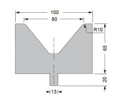 Abkantwerkzeug Typ Bystronic V80 80°