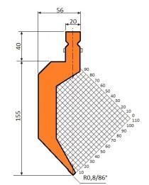 Abkantwerkzeug Typ Trumpf GWP-T1233