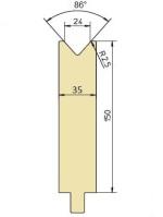 Abkantwerkzeug Typ Trumpf GWD-T024H/86°/R2,5