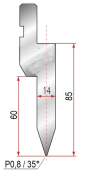 Abkantwerkzeug Typ Amada 1034 35° P0,8