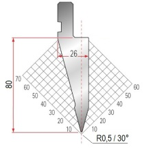 Abkantwerkzeug Typ Amada 1056 30° R0,5