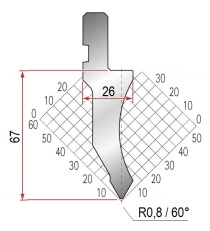 Abkantwerkzeug Typ Amada 1026 60° R0,8