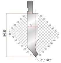 Abkantwerkzeug Typ Amada 1281 85° R0,8 H104,65