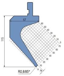 Abkantwerkzeug Typ Amada 1310 85° R0,8