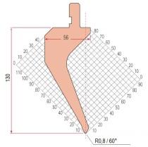 Abkantwerkzeug Typ Amada 1132 60° R0,8