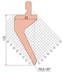 Abkantwerkzeug Typ Amada 1272 60° R0,8