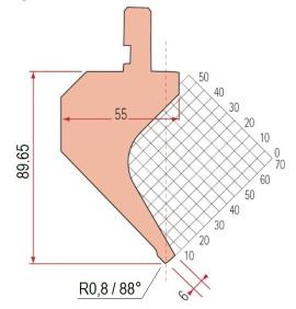 Abkantwerkzeug Typ Amada 1175 88° R0,8