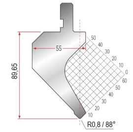 Abkantwerkzeug Typ Amada 1014 88° R0,8