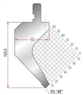 Abkantwerkzeug Typ Amada 1017 88° R3