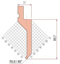 Abkantwerkzeug Typ Amada 1290 88° R0,6