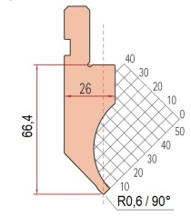 Abkantwerkzeug Typ Amada 1048 90° P0,6