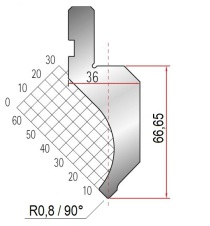 Abkantwerkzeug Typ Amada 1080 90° P0,8