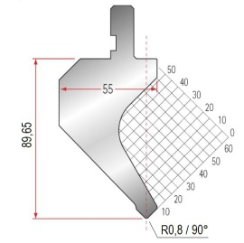 Abkantwerkzeug Typ Amada 1013 90° R0,8