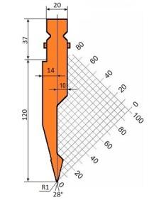 Abkantwerkzeug Typ Trumpf GWP-T202